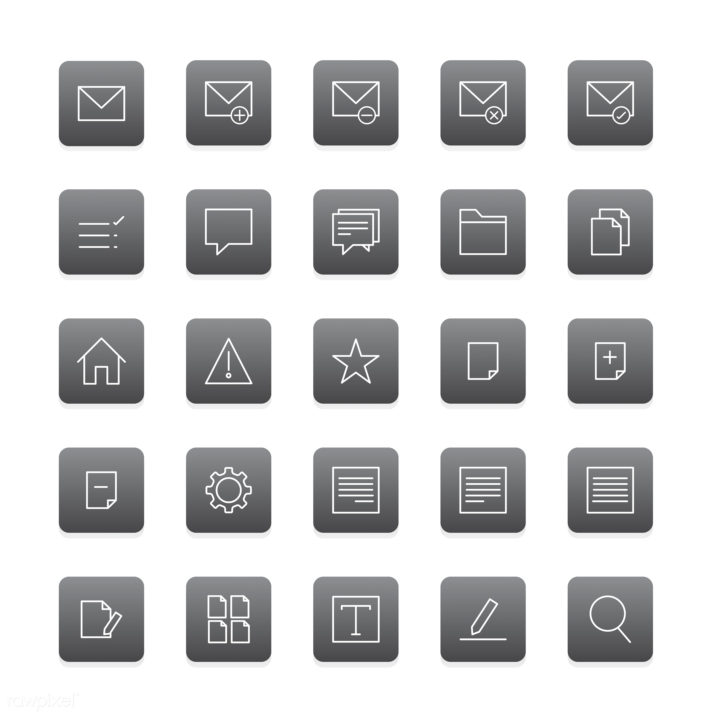 Vector set of website icons - collection, design, flat, graphic, icon, illustration, isolated, layout, platform, set, style...