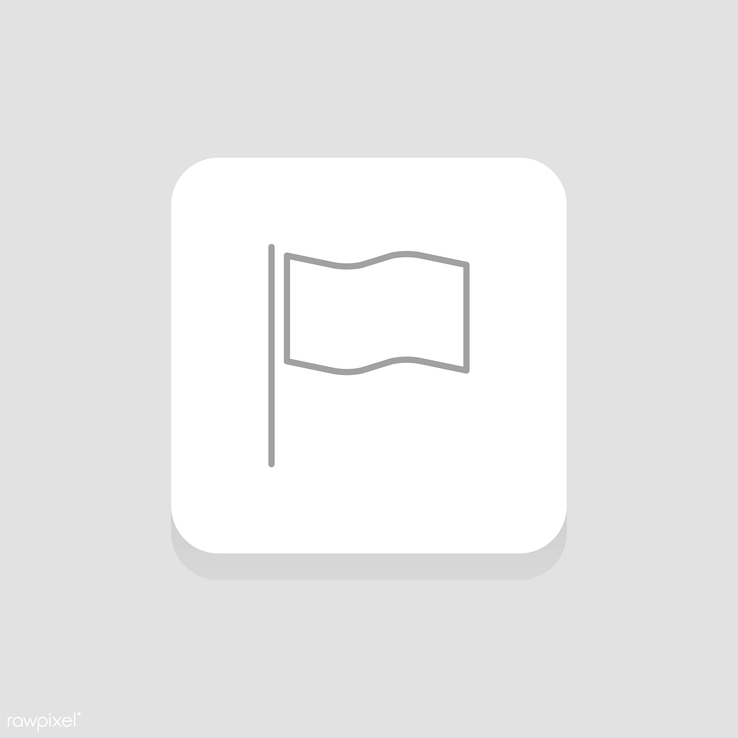 Vector of flag icon - bookmark, button, design, favorite, flag, flat, graphic, icon, illustration, isolated, layout, sign,...