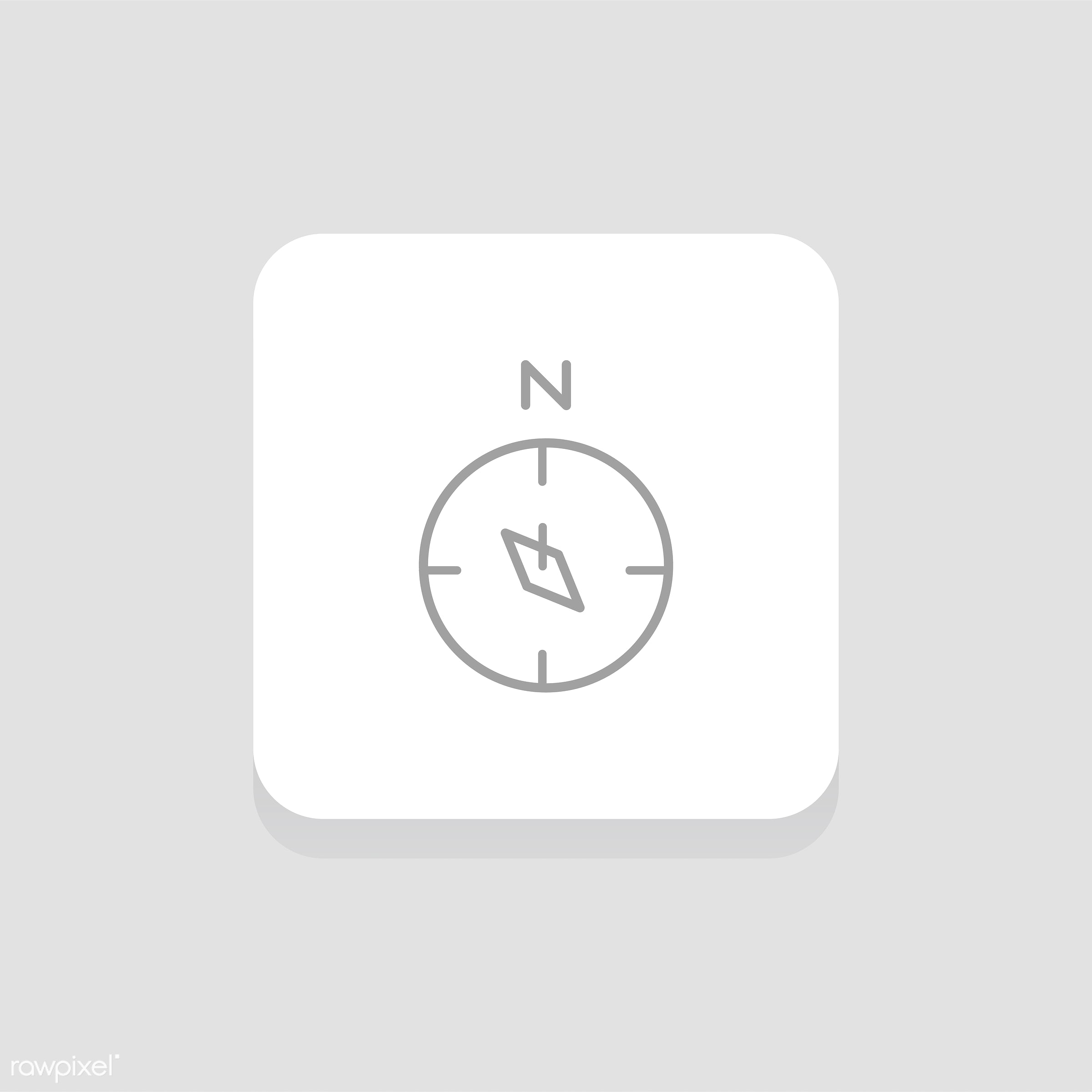 Vector of compass icon - compass, design, direction, explore, flat, graphic, guide, icon, illustration, isolated, journey,...