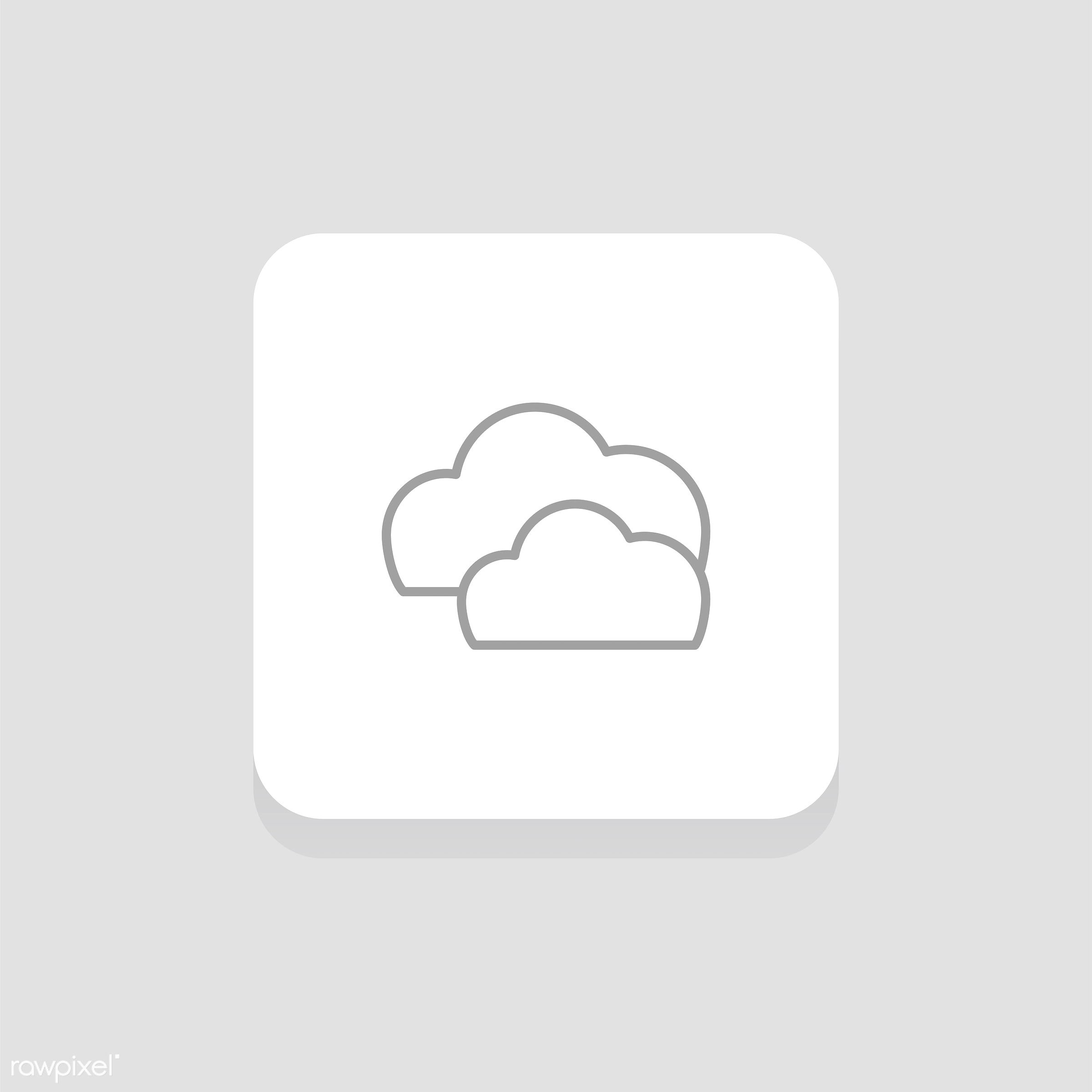 Vector of weather icon - design, flat, graphic, icon, illustration, isolated, layout, platform, Season, style, symbol,...