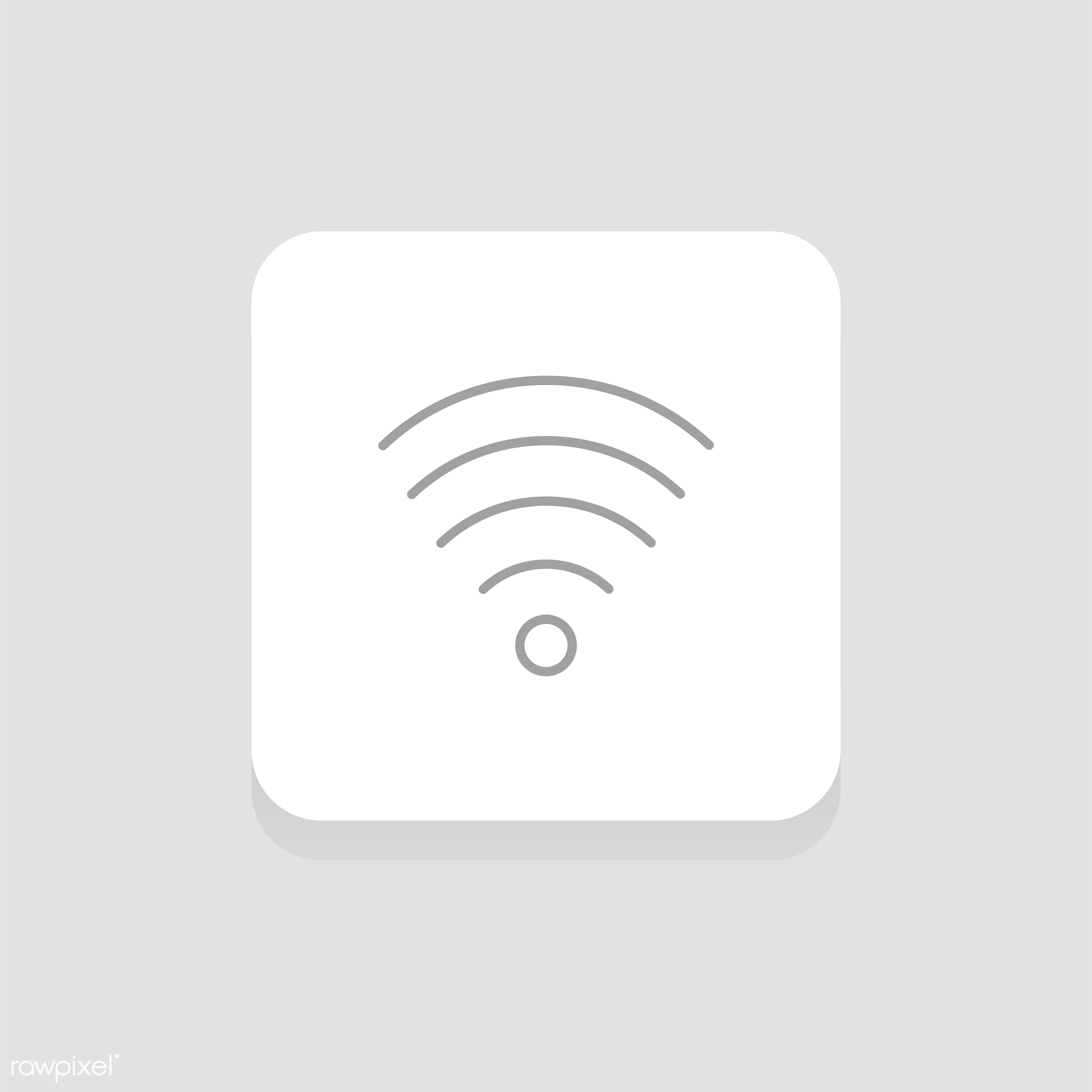 Vector of wifi icon - wifi, design, flat, graphic, icon, illustration, isolated, layout, style, symbol, vector, web, website...