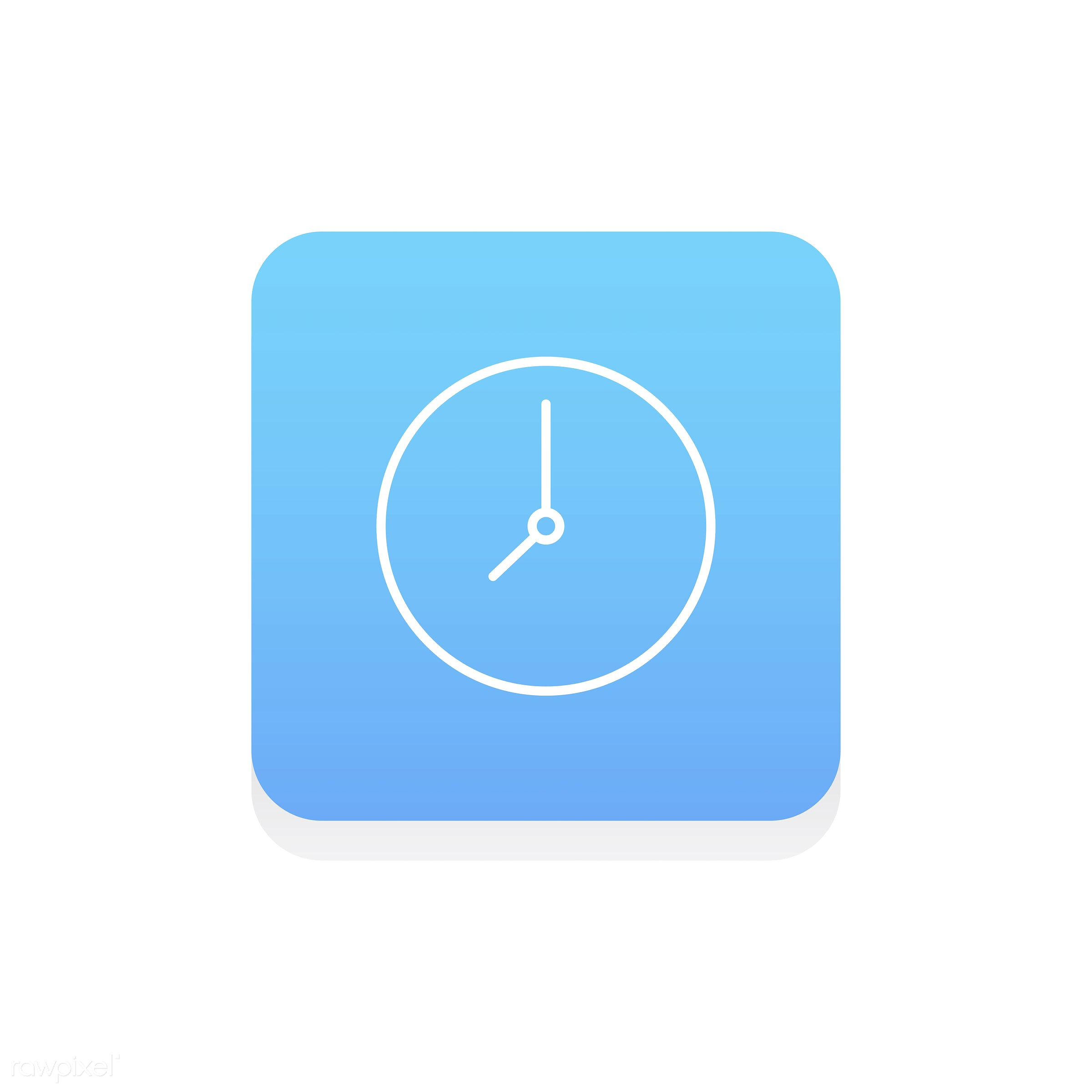 Vector of clock icon - design, flat, graphic, icon, illustration, isolated, layout, style, symbol, vector, web, website,...
