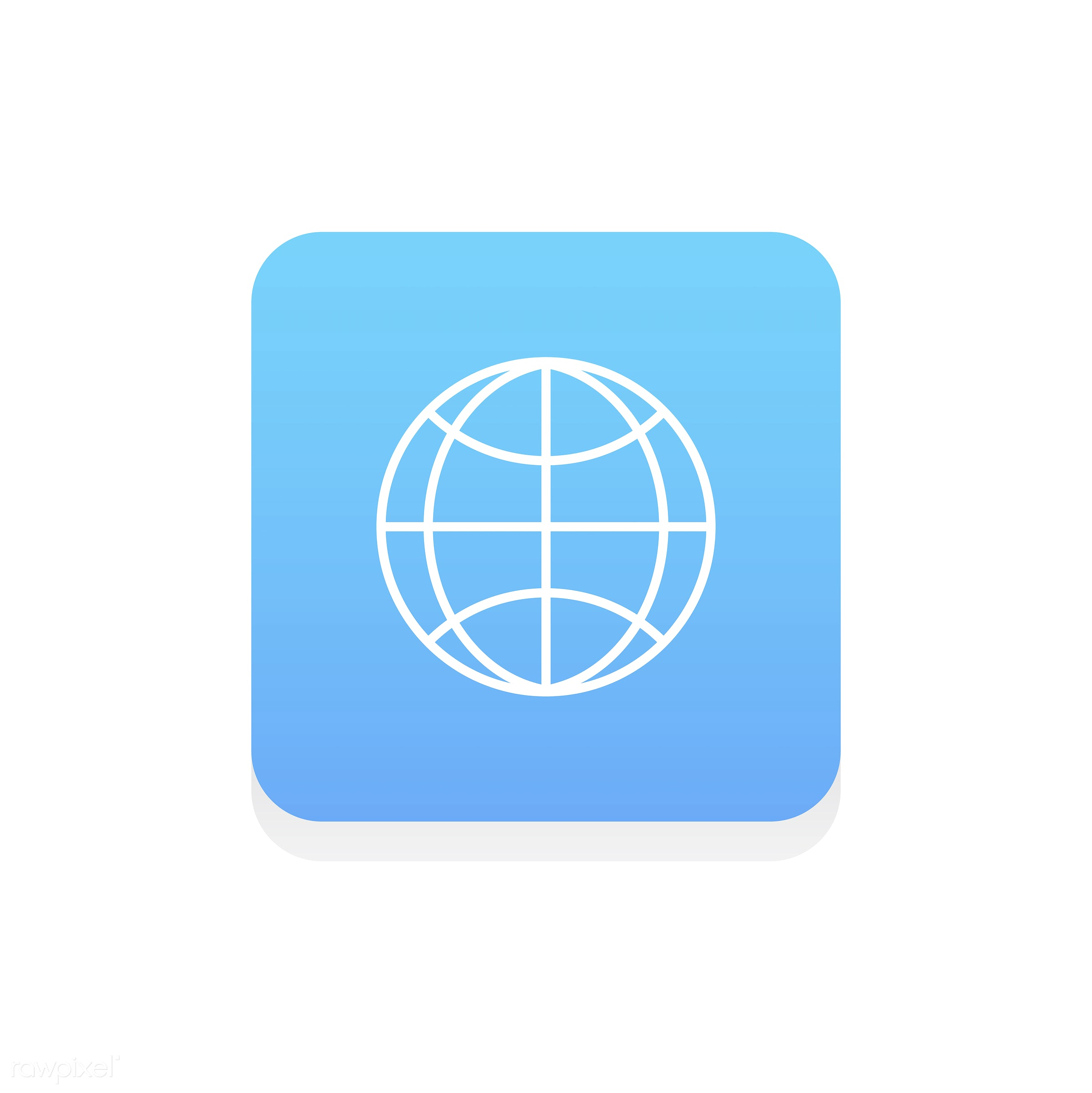 Vector of globe icon - design, flat, graphic, icon, illustration, isolated, layout, style, symbol, vector, web, website,...