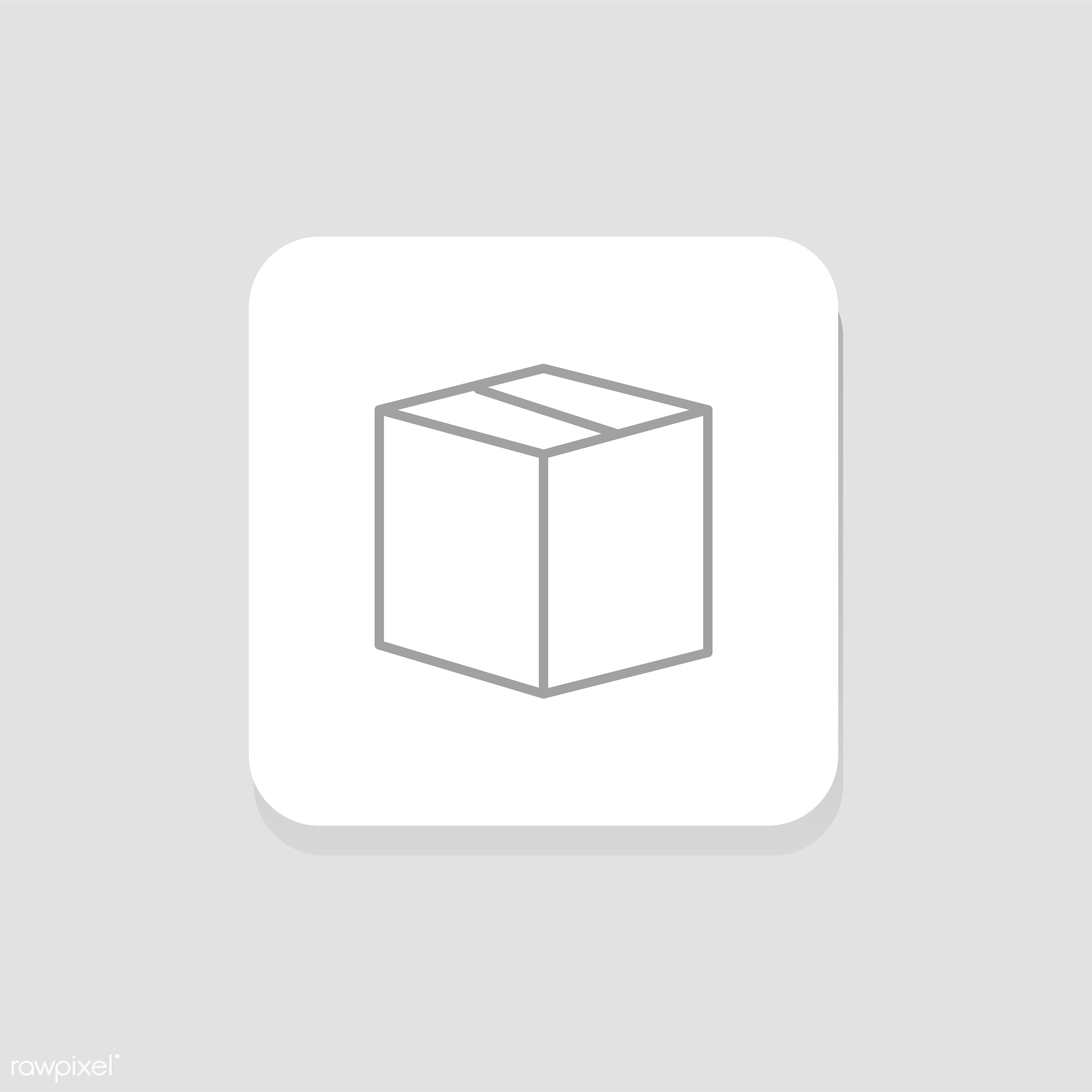 Vector of box icon - box, delivery, design, flat, freight, graphic, icon, illustration, isolated, layout, logistic, package...