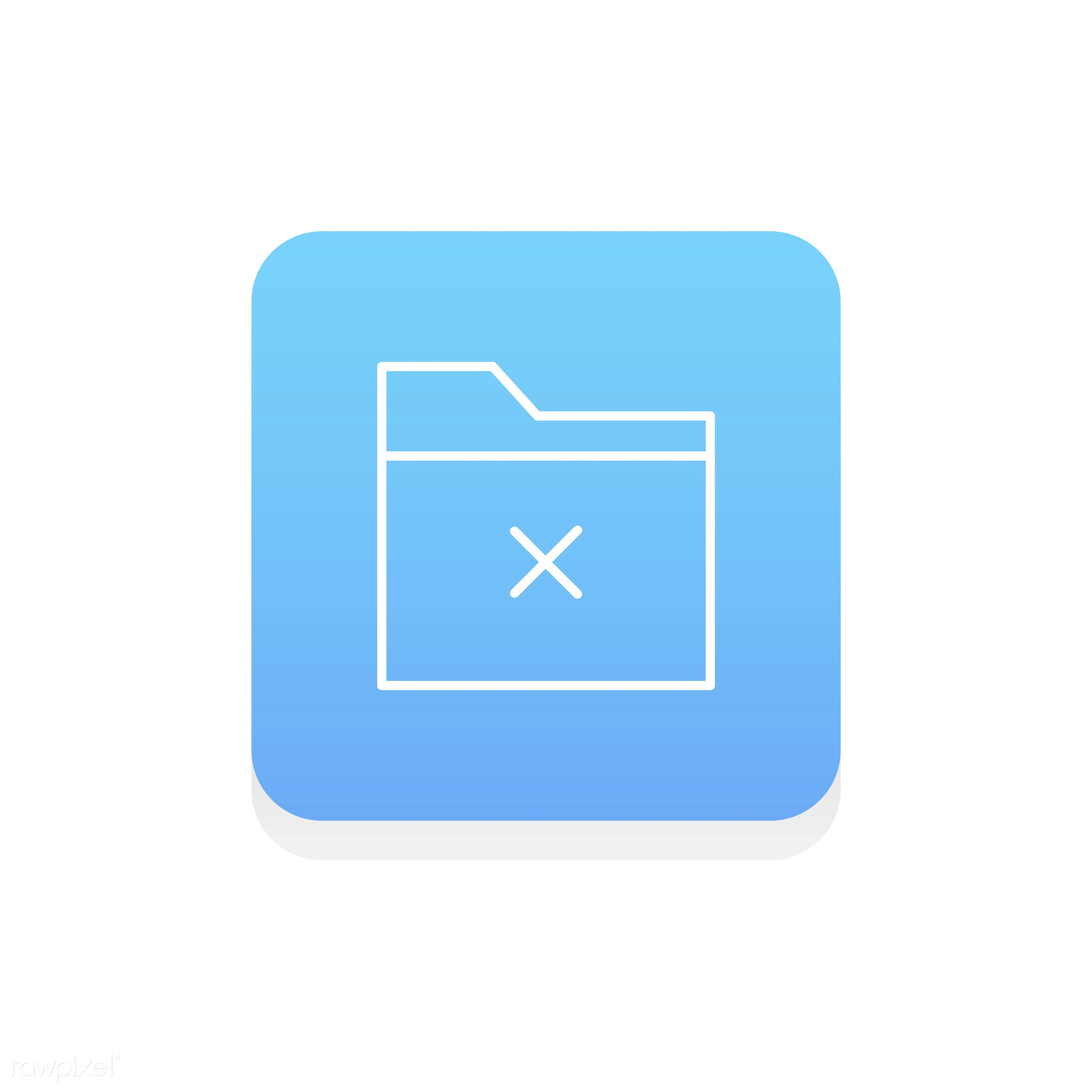 Vector of folder icon - data, design, document, flat, graphic, icon, illustration, information, isolated, layout, style,...