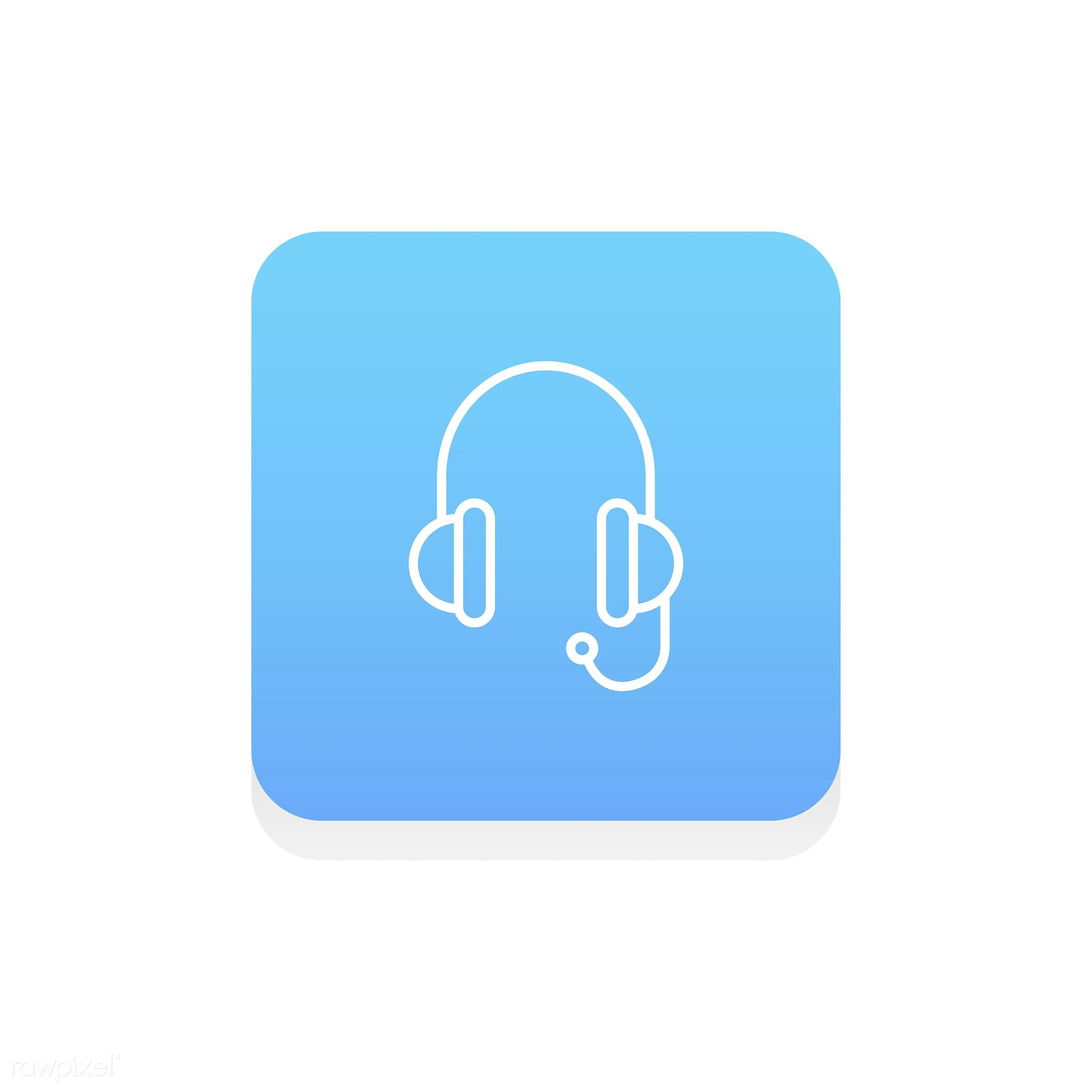 Vector of call center icon - operator, earphones, call center, contact, customer service, data, design, flat, graphic, help...