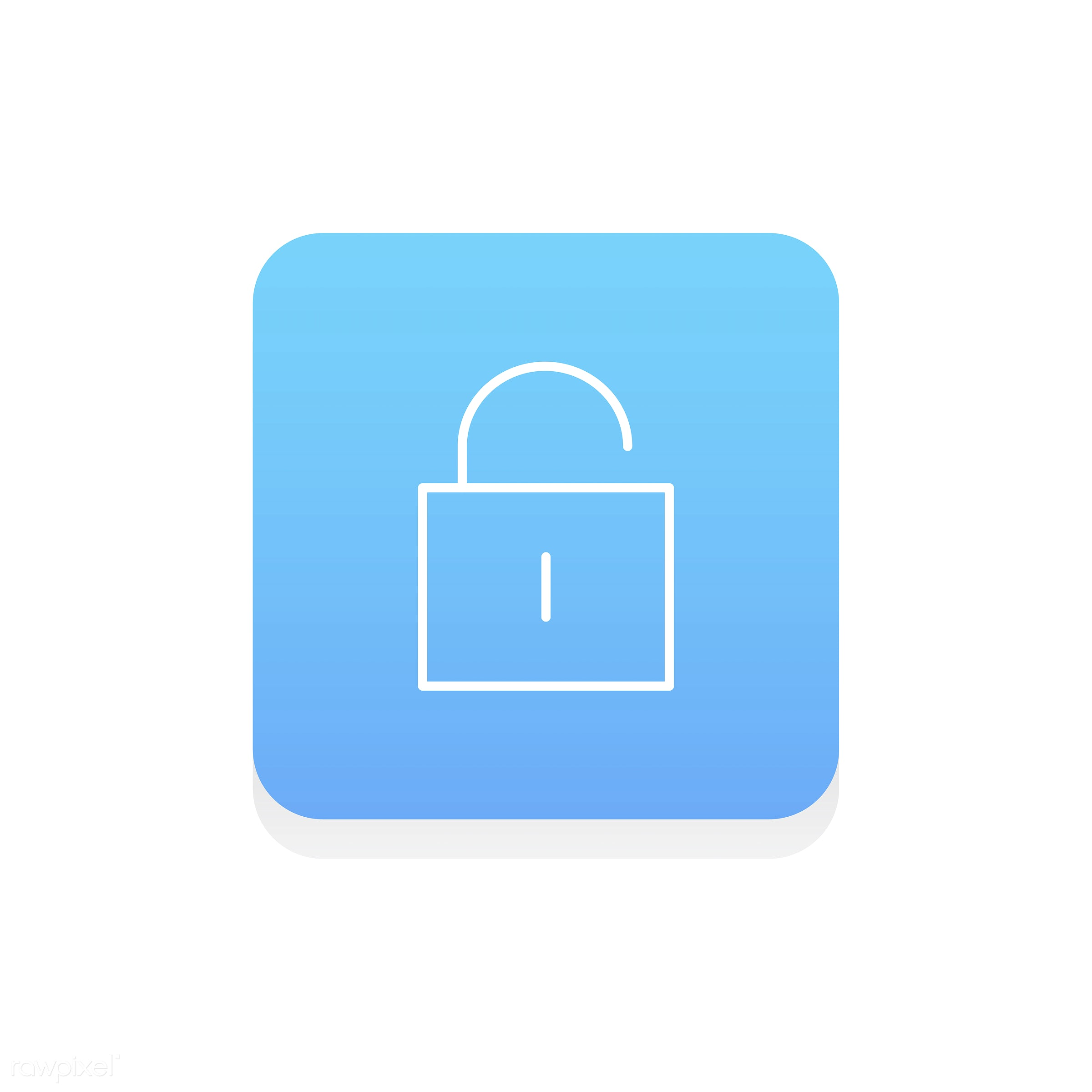 Vector of lock icon - lock, authorize, design, flat, graphic, icon, illustration, isolated, password, privacy, protect,...