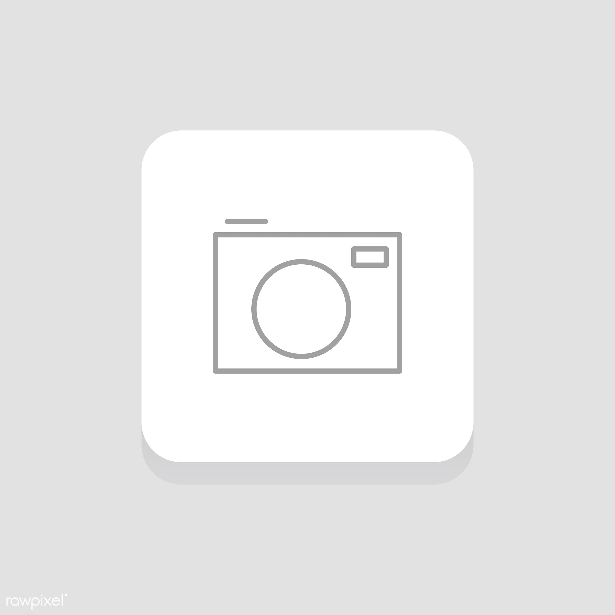 Vector of camera icon - design, flat, graphic, icon, illustration, isolated, layout, style, symbol, vector, web, website,...