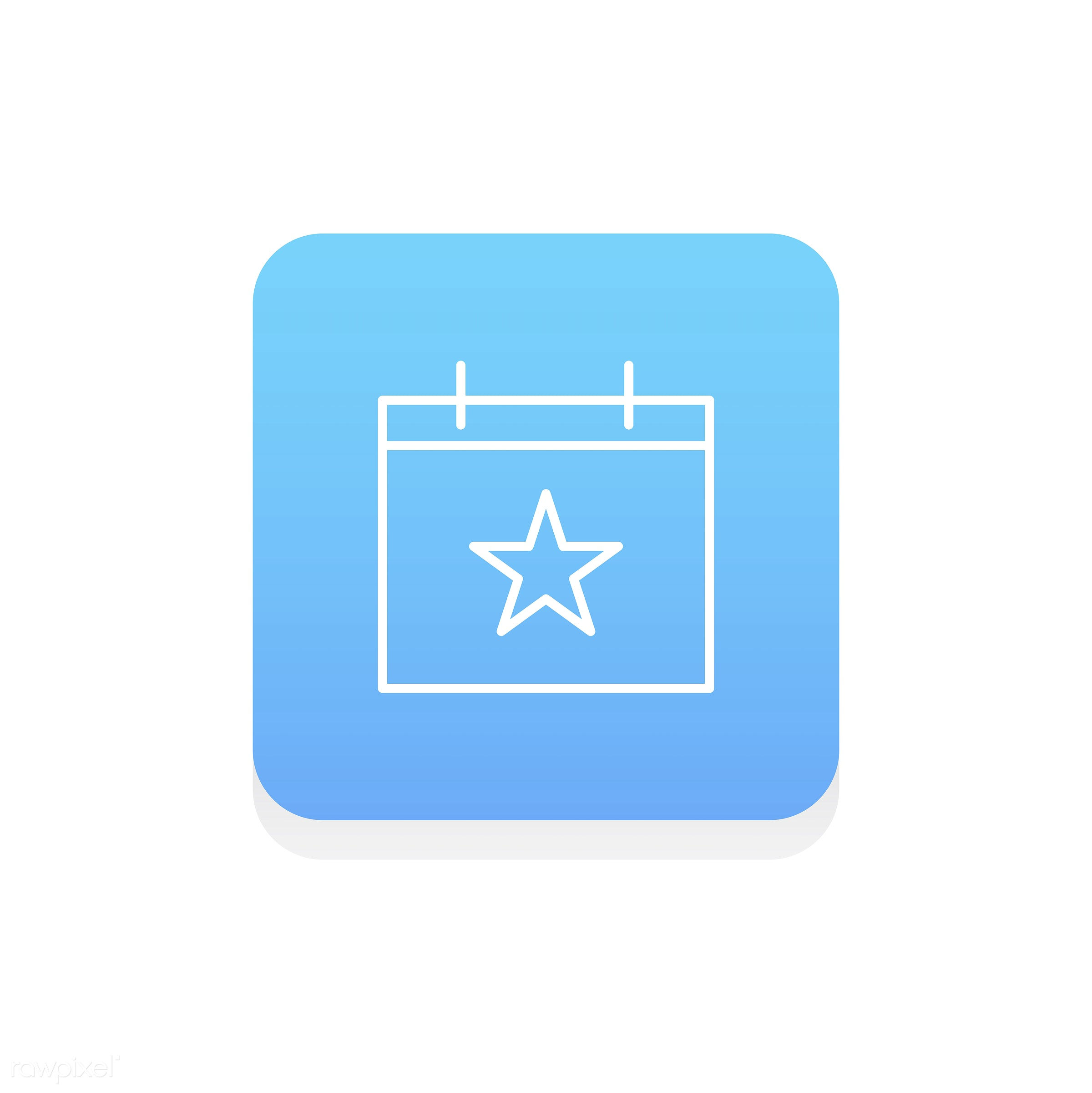 Vector of calendar icon - calendar, design, flat, graphic, icon, illustration, isolated, layout, style, symbol, vector, web...