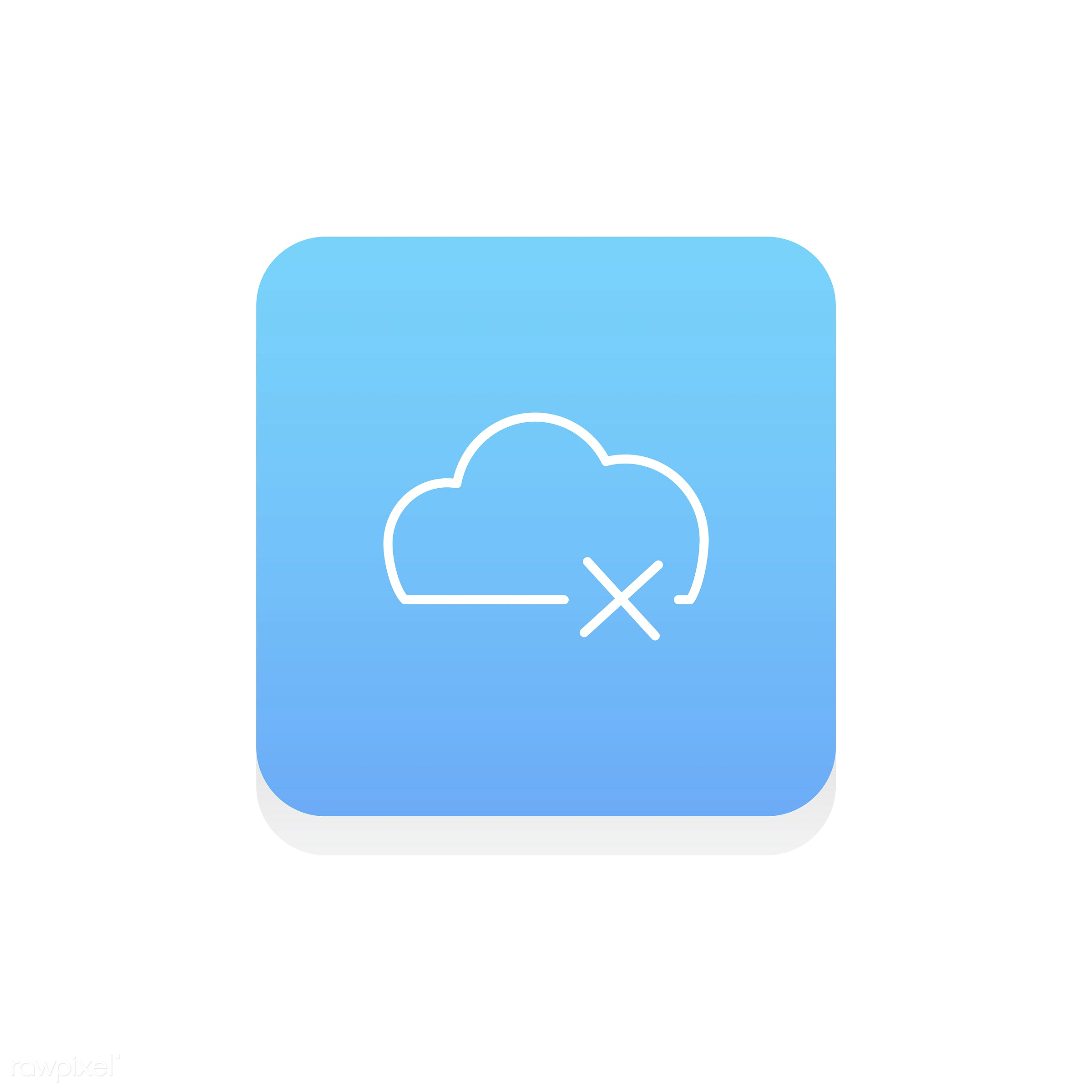 Vector of website data storage icons - cloud storage, cloud, data, design, flat, graphic, icon, illustration, information,...