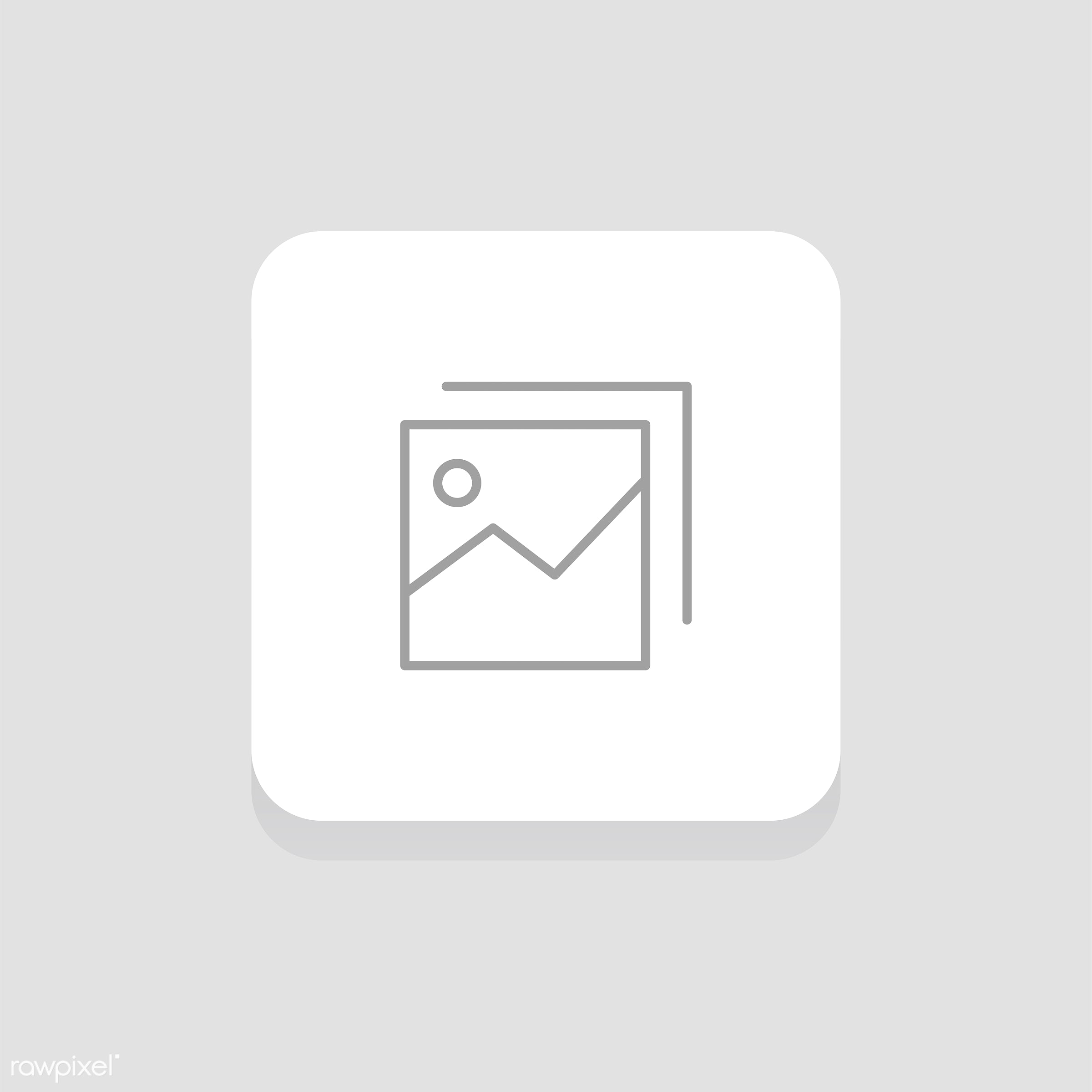 Vector of gallery icon - gallery, design, flat, graphic, icon, illustration, isolated, style, symbol, vector, photo, album,...