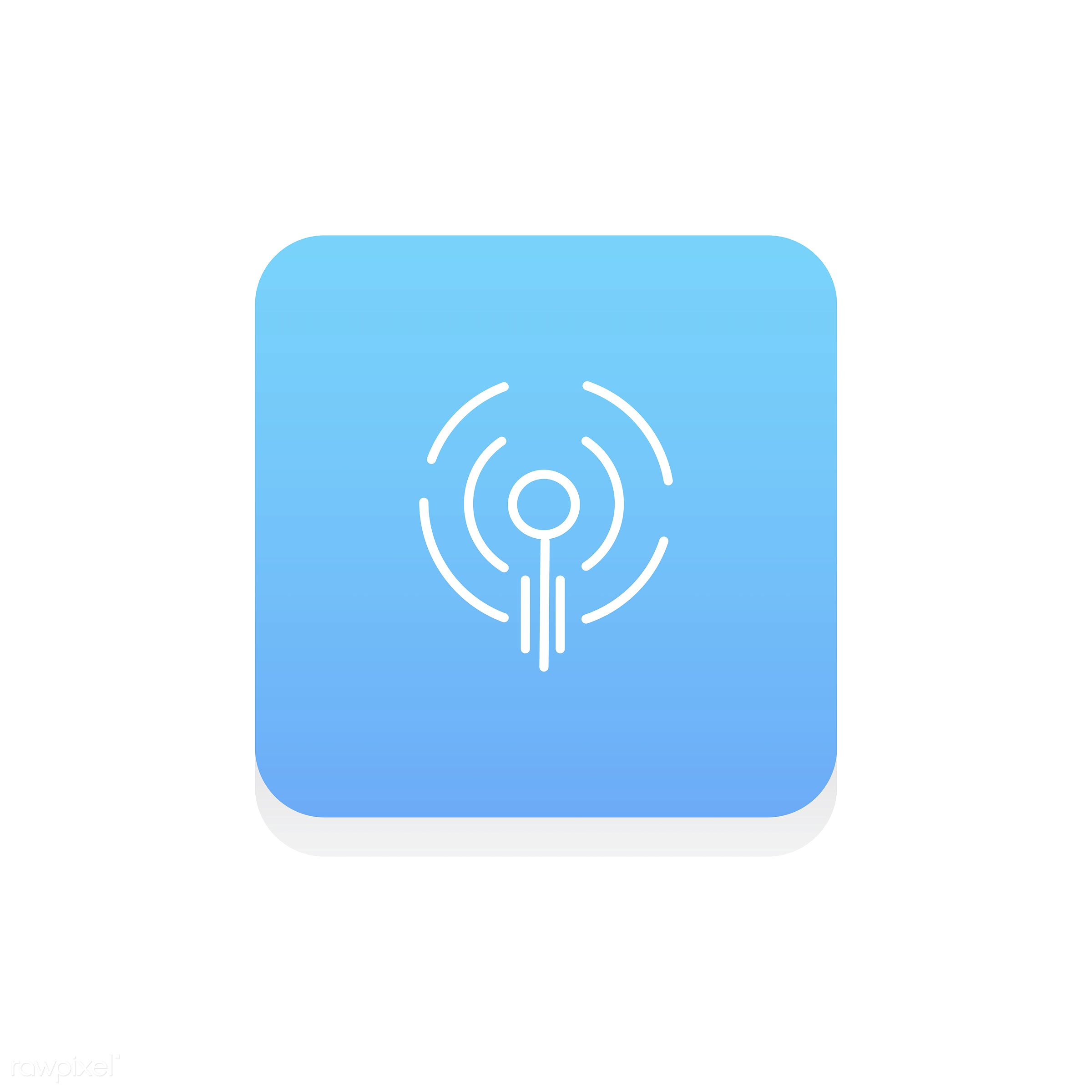 Vector of podcast icon - design, flat, graphic, icon, illustration, isolated, layout, style, symbol, vector, web, website,...