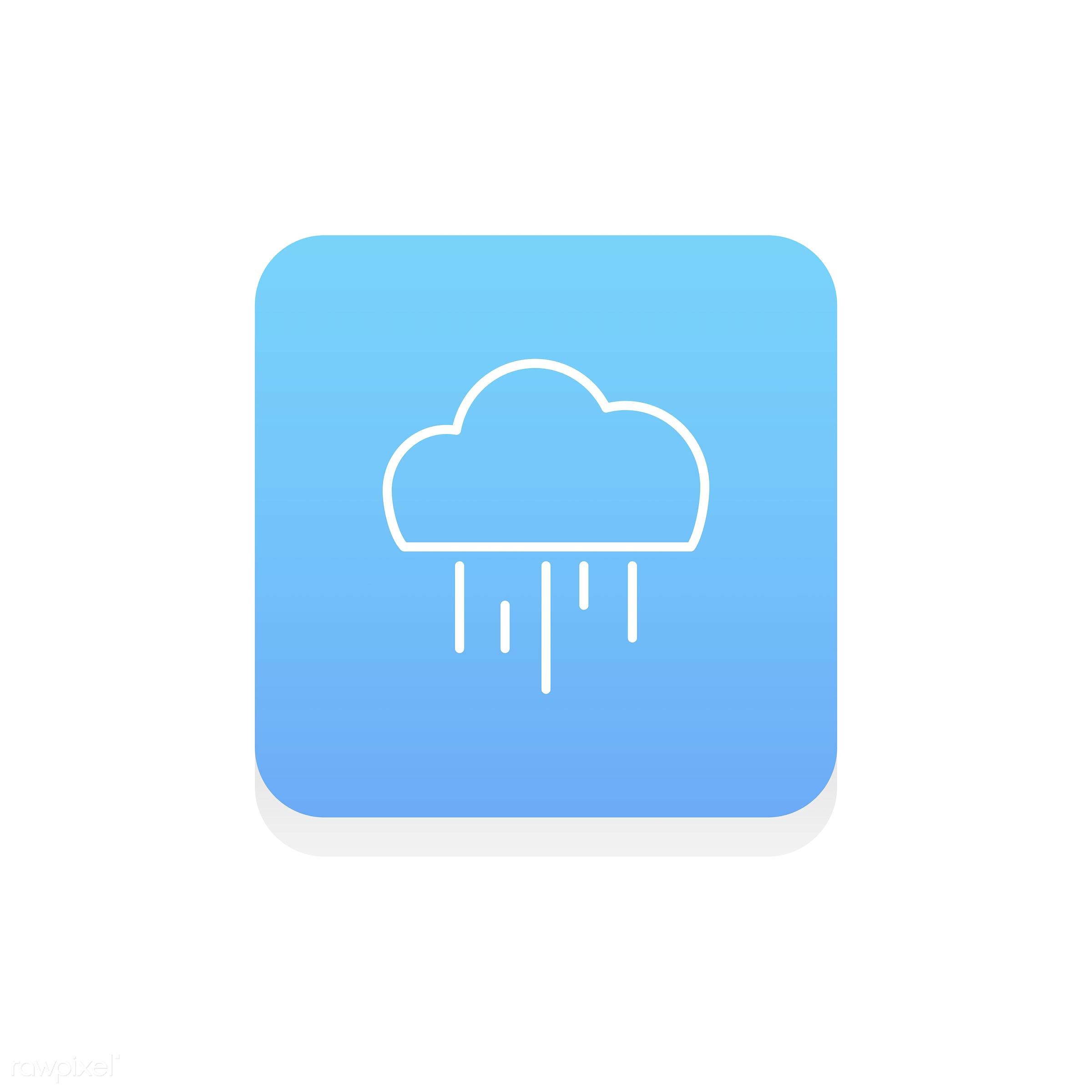Vector of weather icon - design, flat, graphic, icon, illustration, isolated, layout, platform, Season, style, symbol,...
