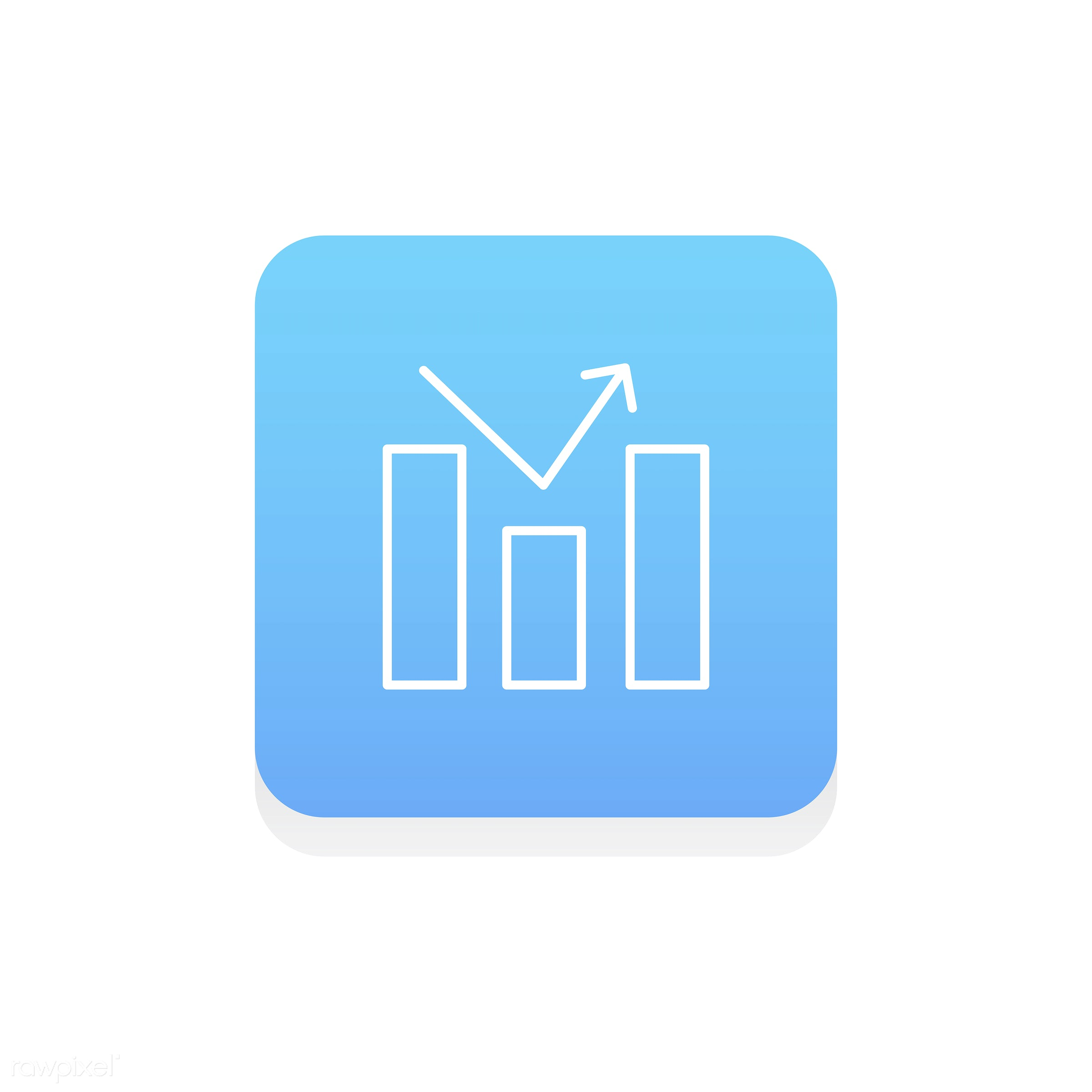 Vector of data analysis  graph icon - graph, analysis, business, data, design, flat, graphic, icon, illustration,...