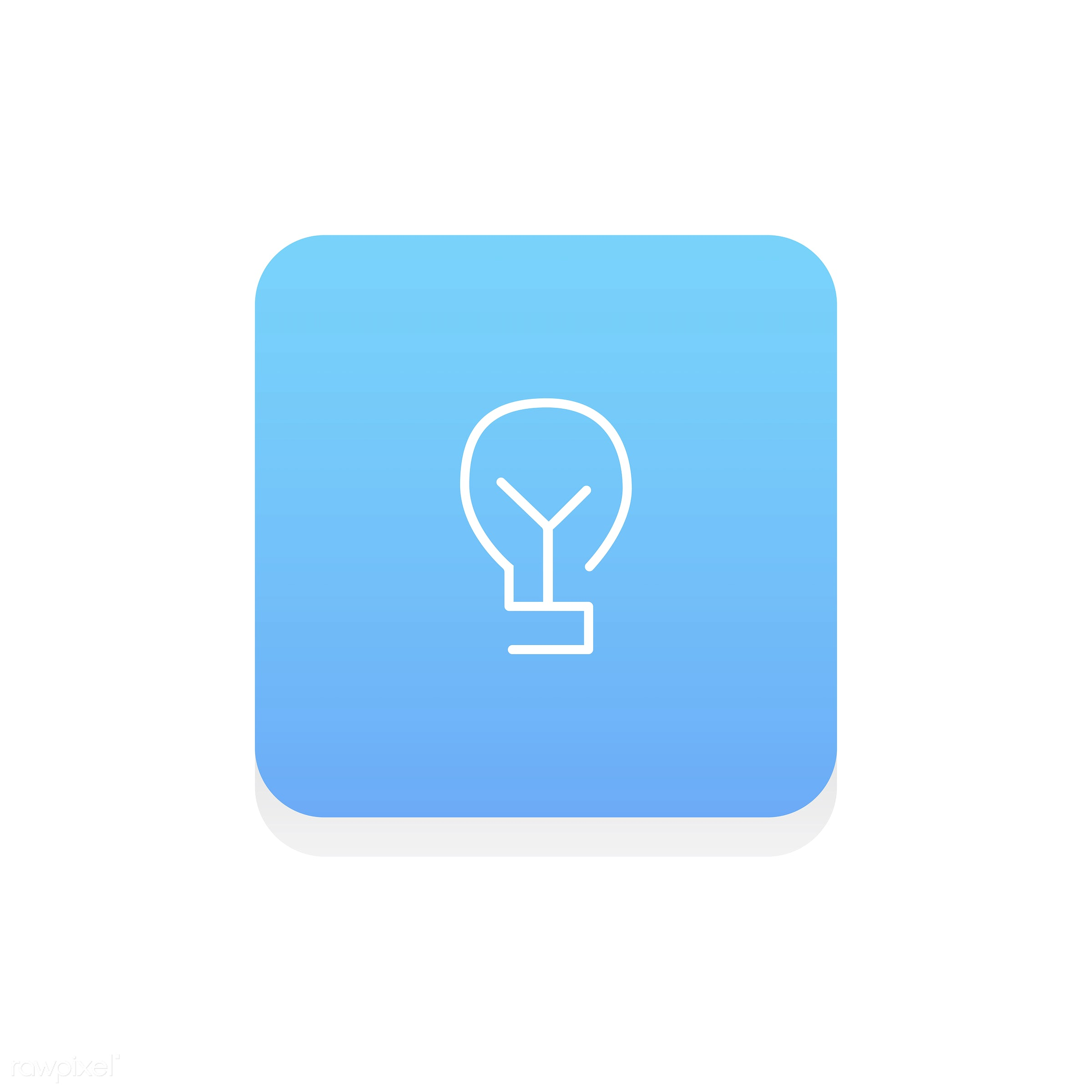Vector of light bulb icon - attitude, brainstorm, bright, create, creative, creativity, design, energy, flat, fresh ideas,...