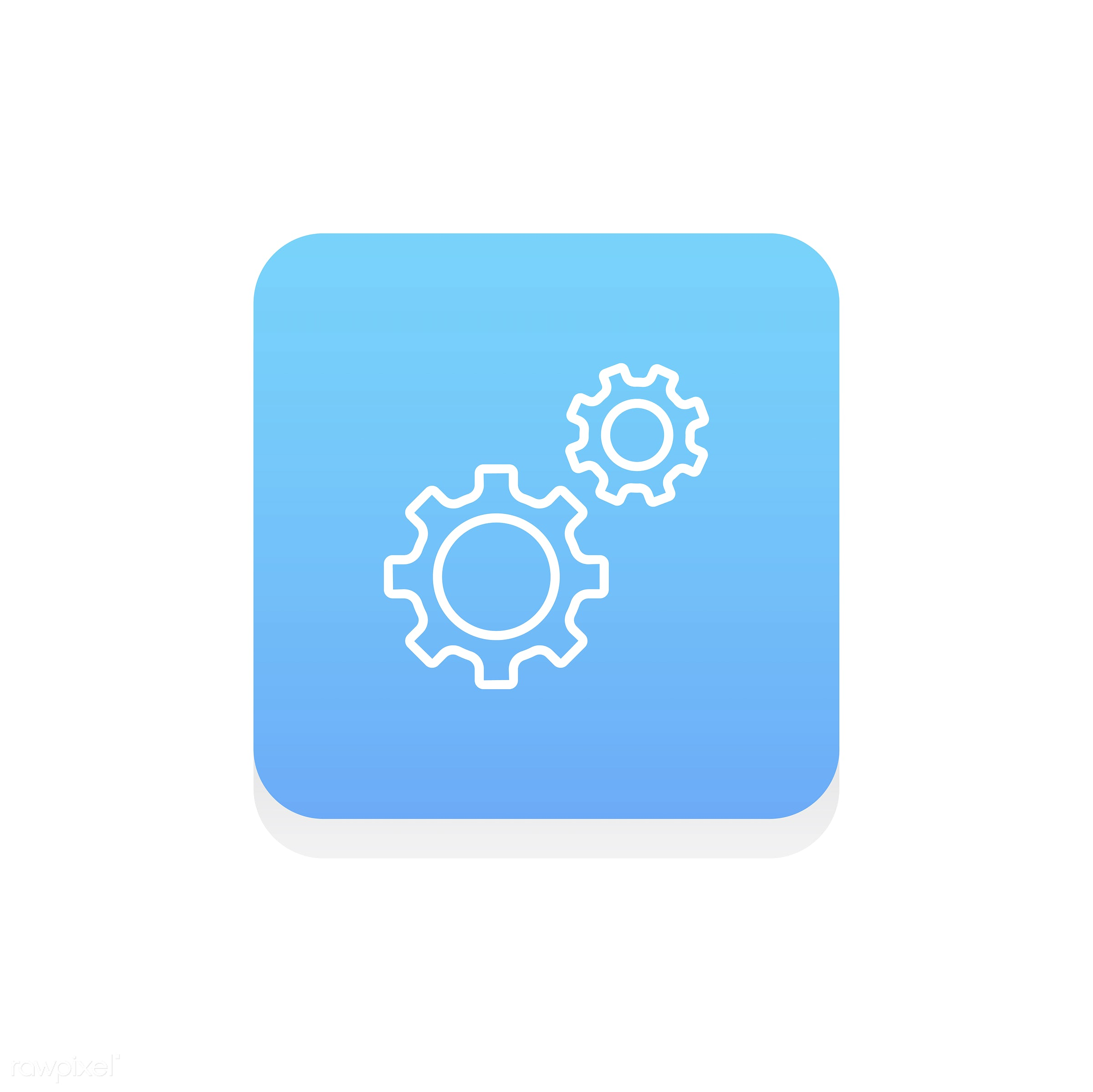 Vector of gear icon - gear, design, flat, graphic, icon, illustration, isolated, layout, style, symbol, vector, web, website...