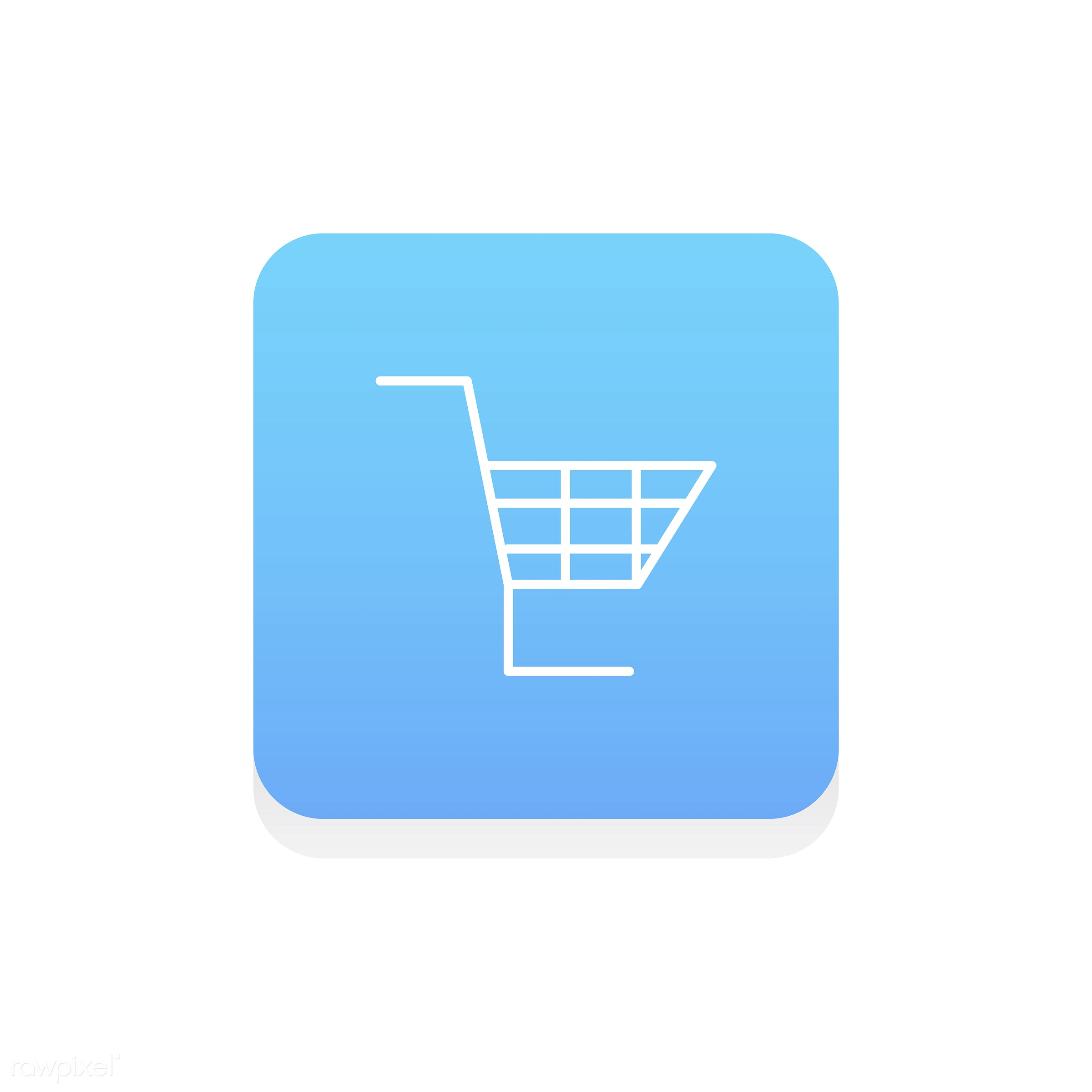 Vector of online shopping icon - basket, cart, design, flat, graphic, icon, illustration, internet, isolated, layout, online...