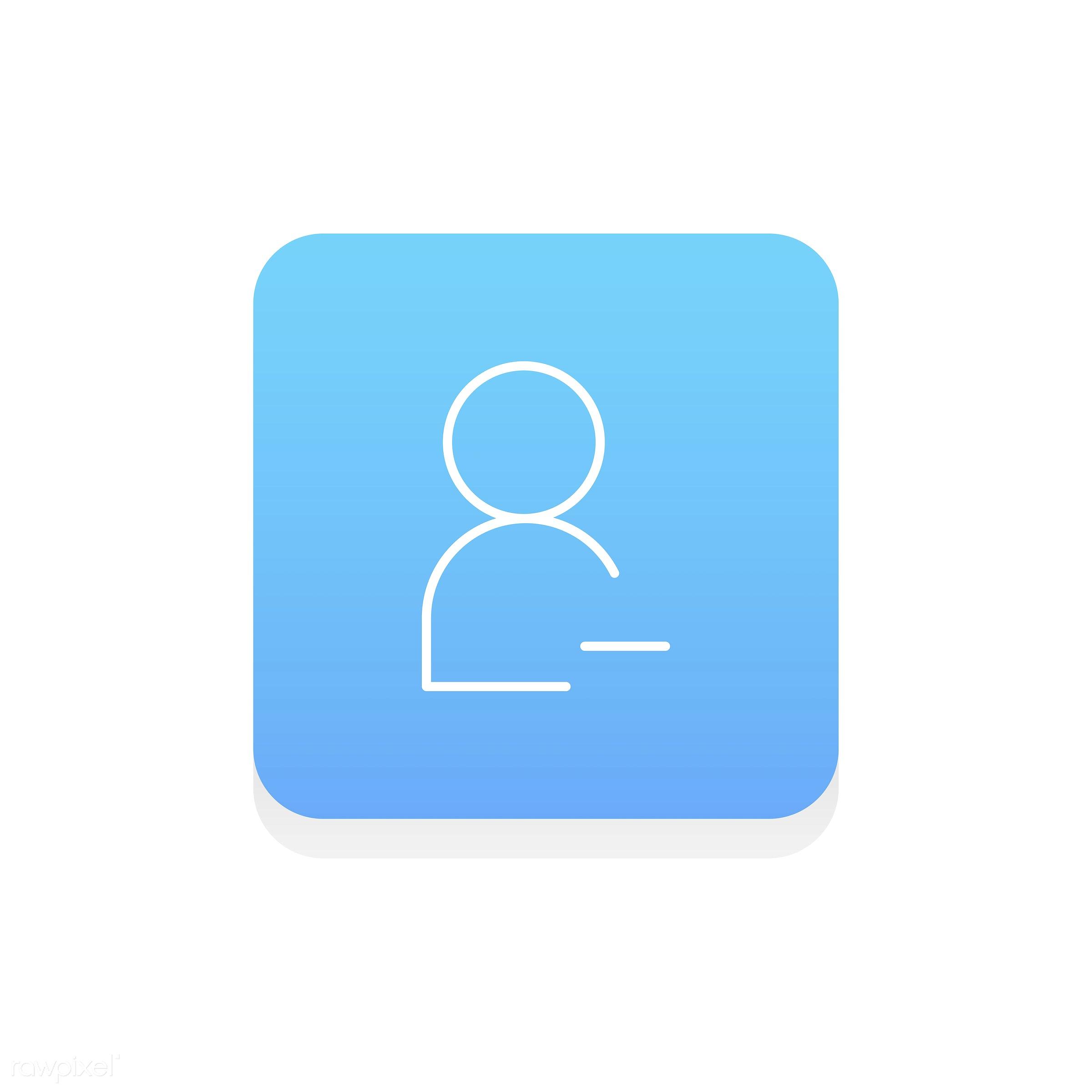 account, avatar, button, click, copy space, decrease, delete, design, design space, flat, graphic, icon, illustration,...