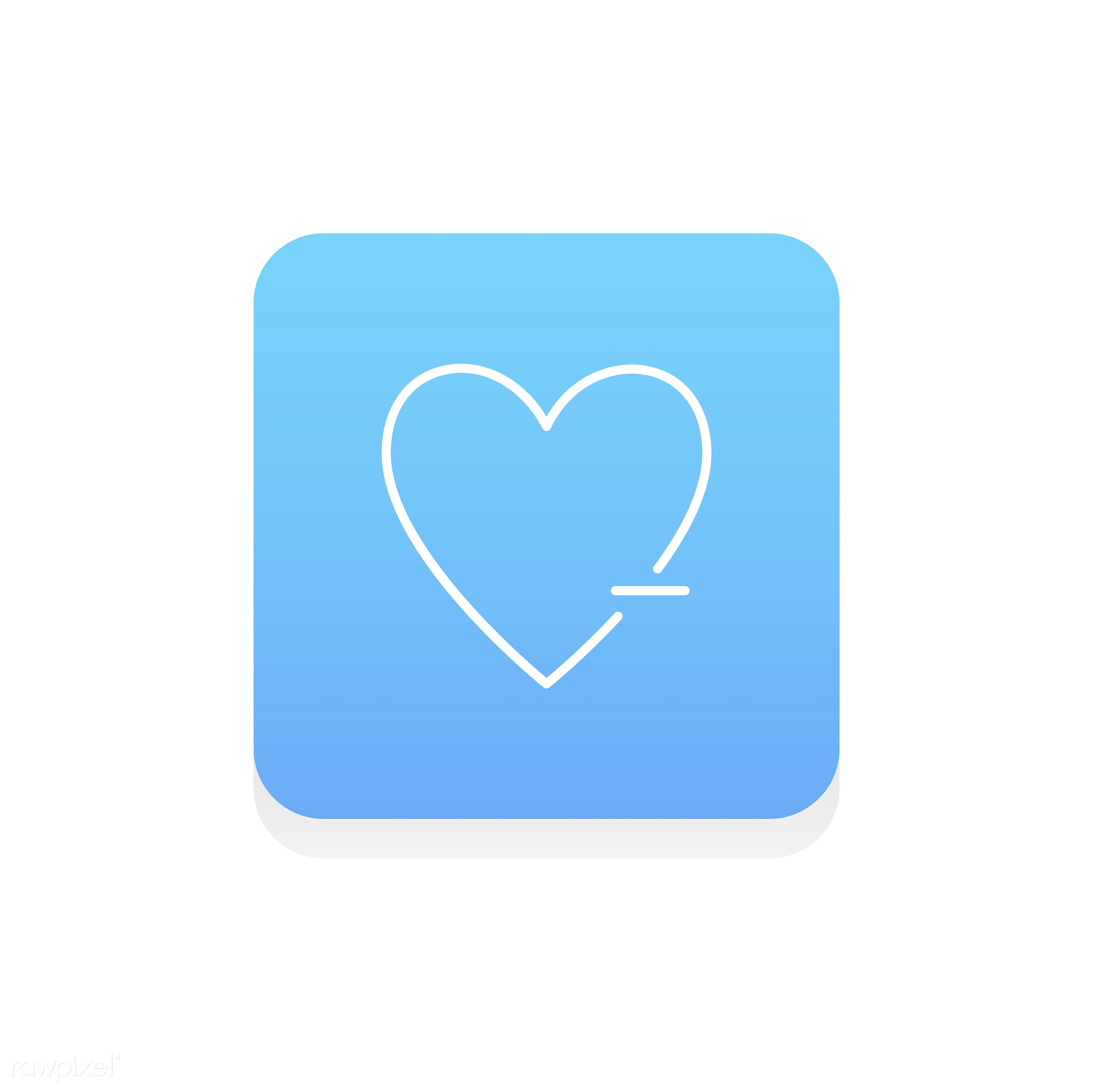 Vector of heart icon - design, emotion, expression, feeling, flat, graphic, heart, icon, illustration, isolated, layout,...