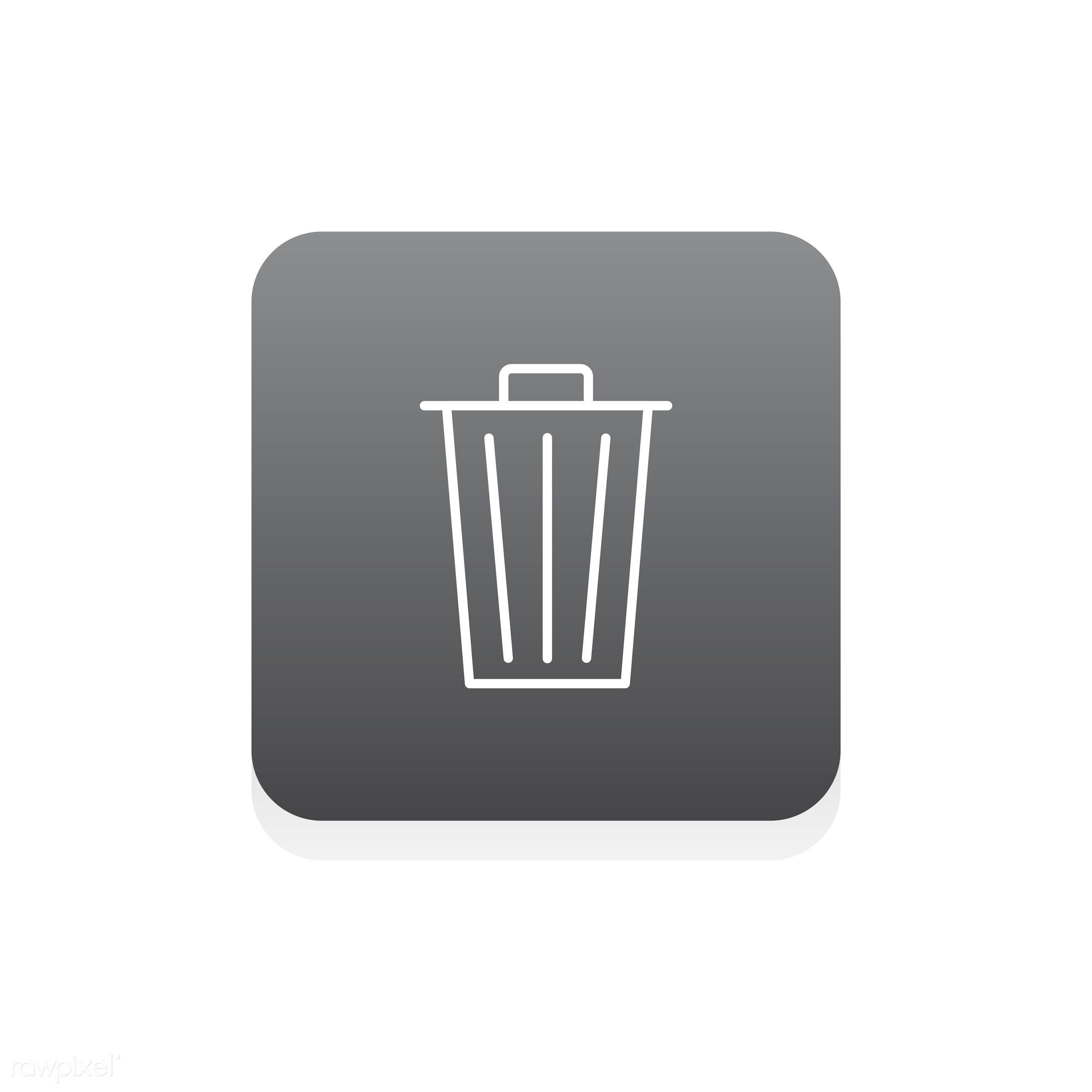 Vector of delete icon - bin, delete, design, flat, graphic, icon, illustration, isolated, junk, layout, style, symbol, trash...