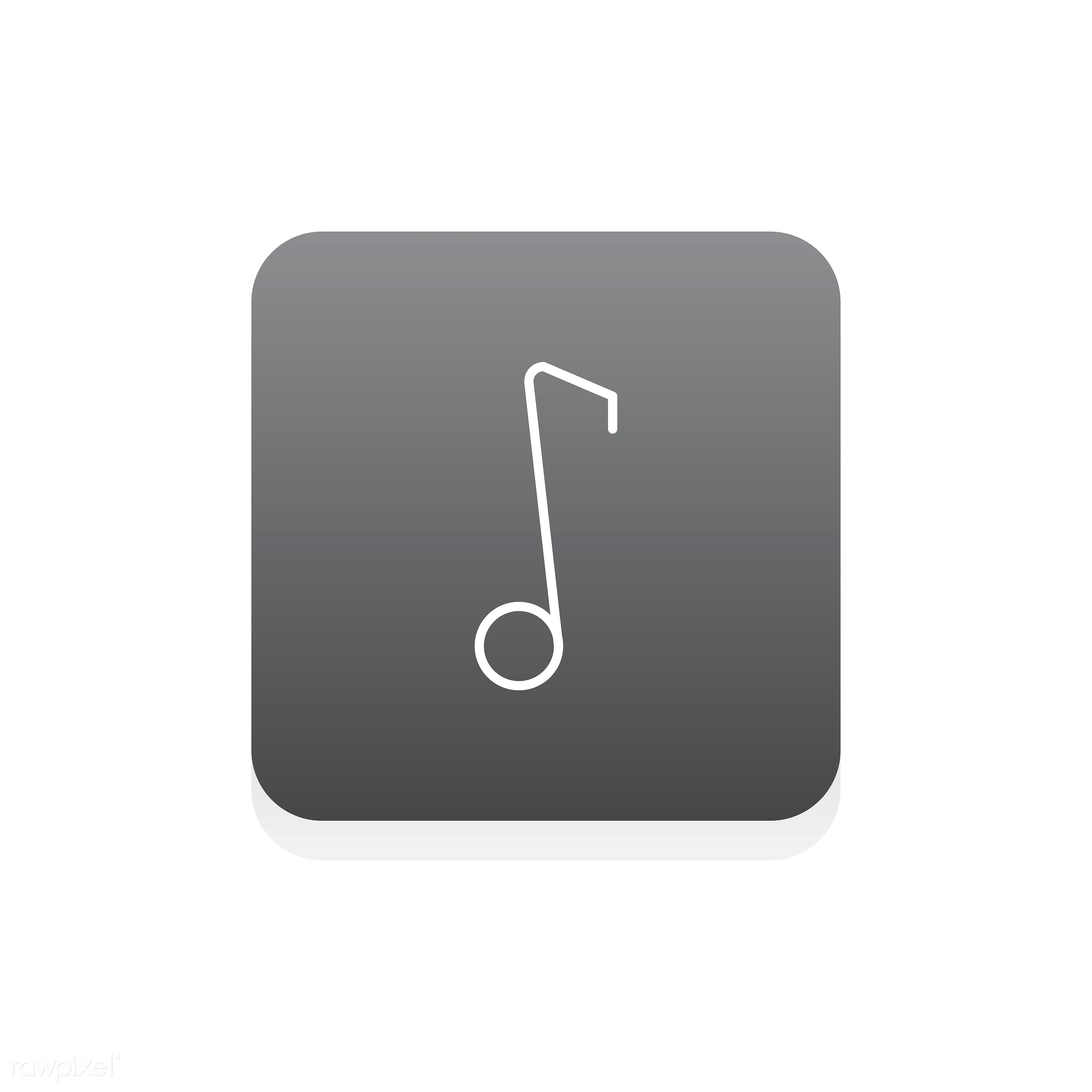Vector of music note icon - music, audio, design, entertainment, flat, graphic, icon, illustration, isolated, layout, sound...