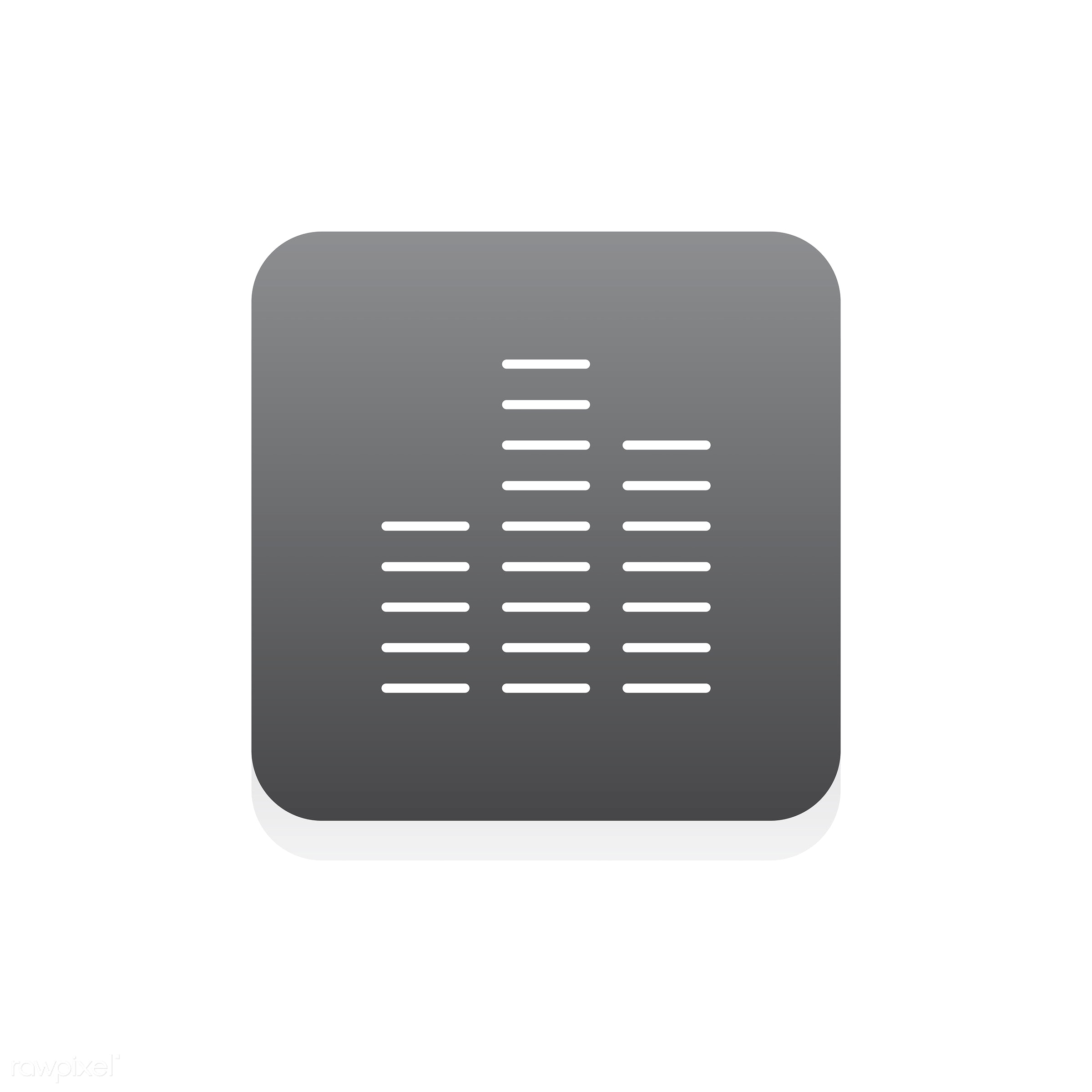 Vector of music equalizer icon - music, audio, design, entertainment, flat, graphic, icon, illustration, isolated, layout,...