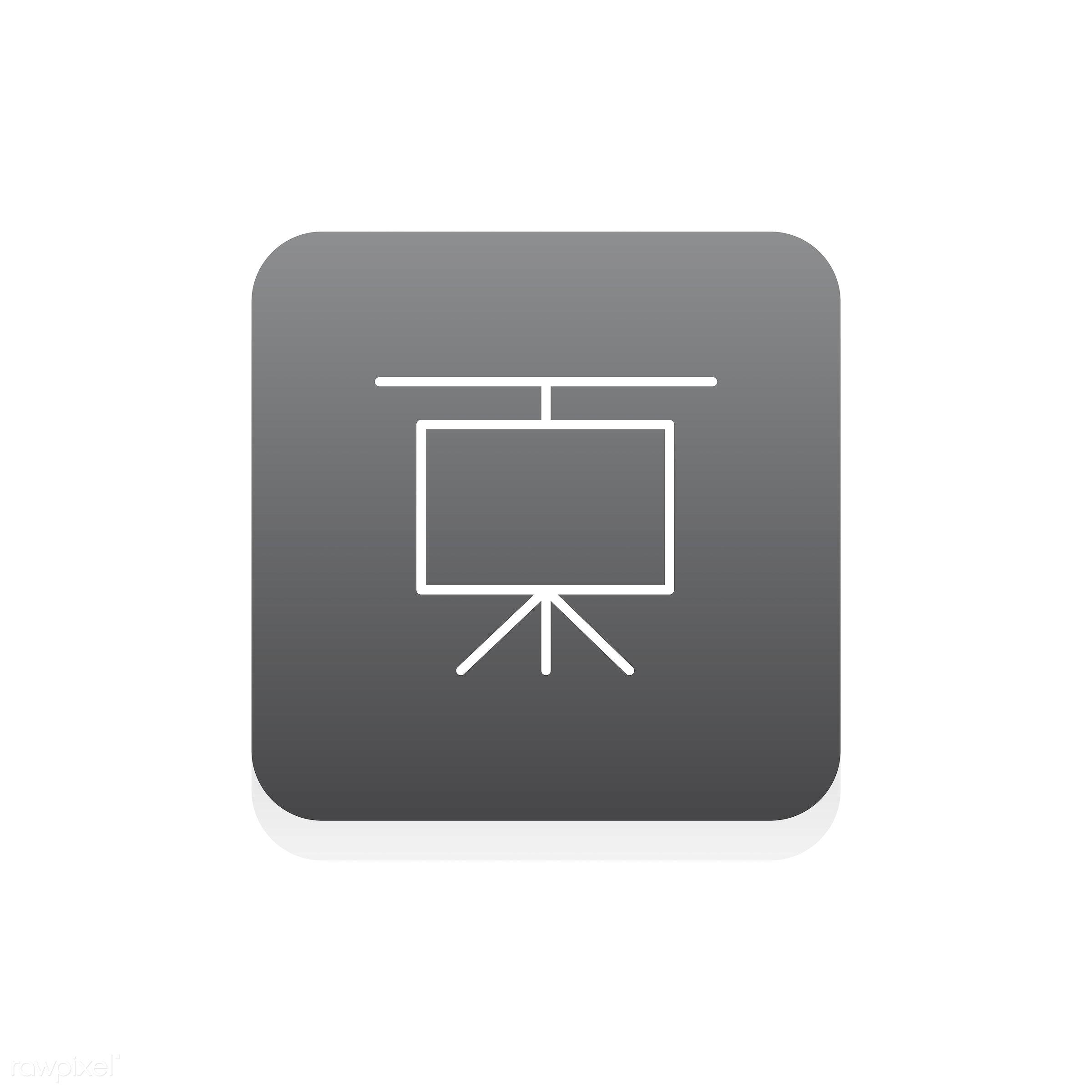 Vector of presentation board - analysis, board, business, chart, data, design, flat, graphic, icon, illustration,...