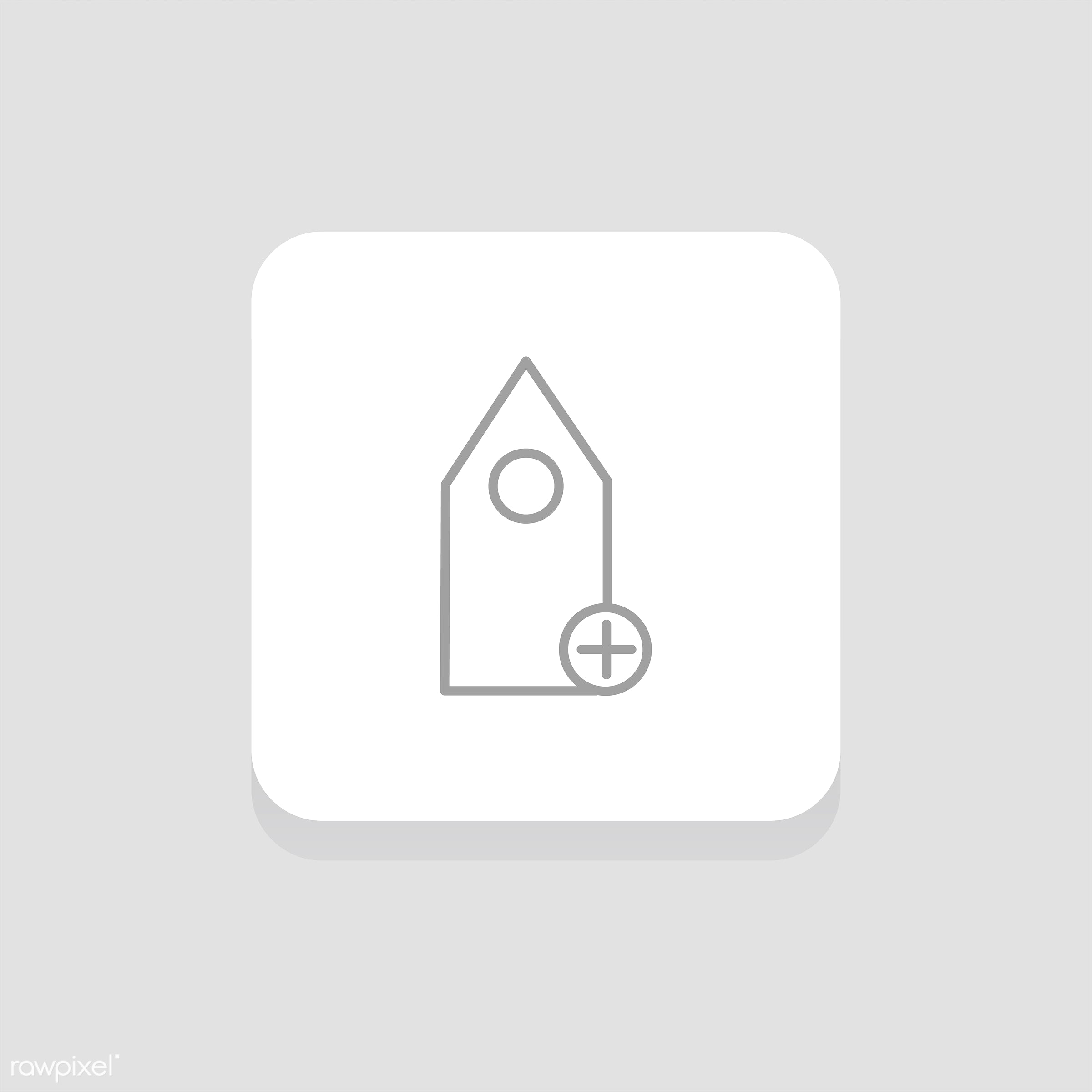 Vector of bookmark icon - button, design, flat, graphic, icon, illustration, isolated, layout, sign, style, symbol, vector,...