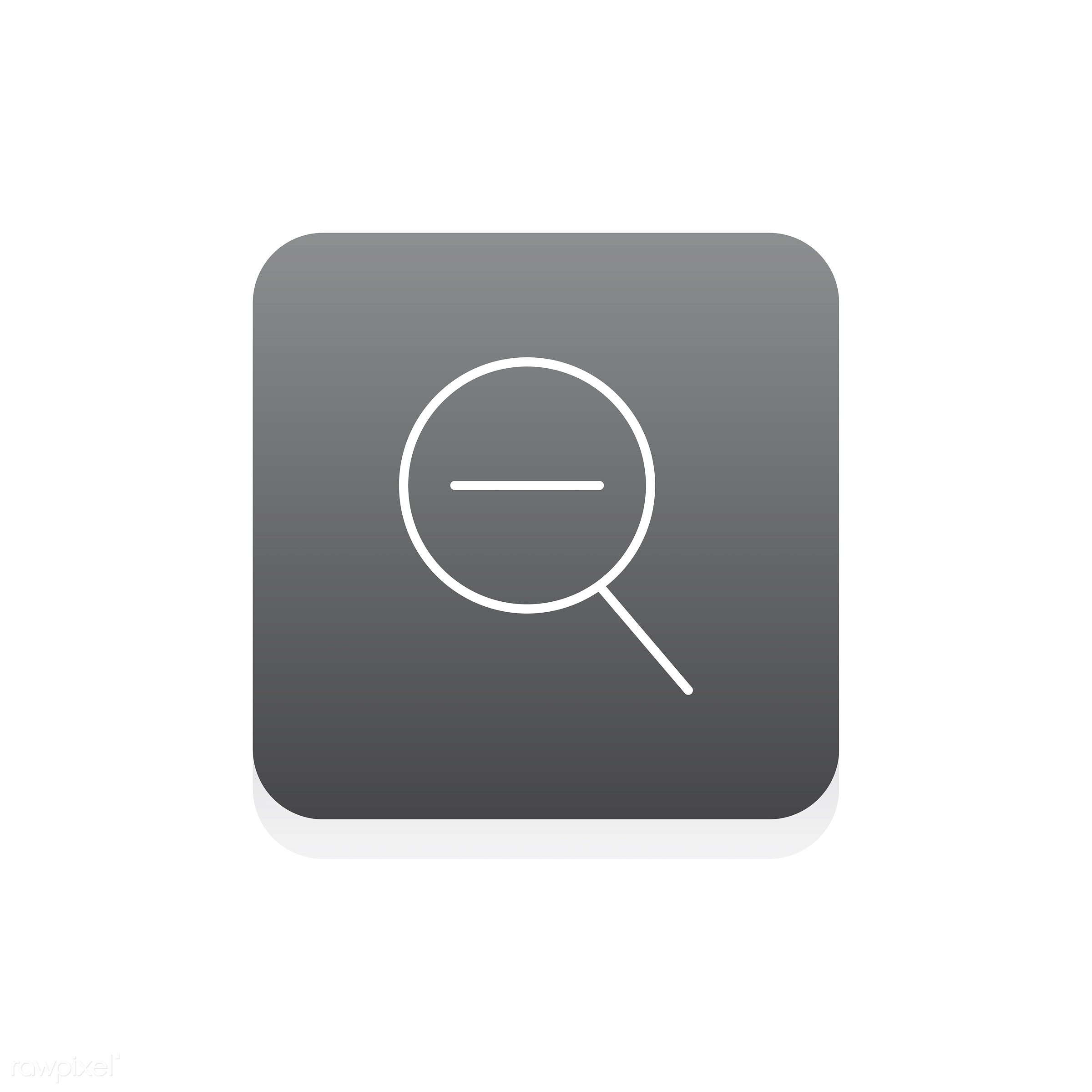 Vector of magnifying glass icon - design, flat, graphic, icon, illustration, isolated, layout, style, symbol, vector, web,...