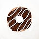 Chocolate frosted donut element psd cute hand drawn style