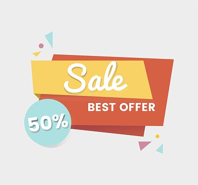 colorful shopping sale badge design id 463321