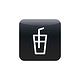 A glass of cold drink icon vector